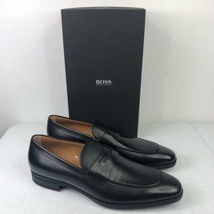 Hugo Boss Men's Kensington Black Leather Loafers
